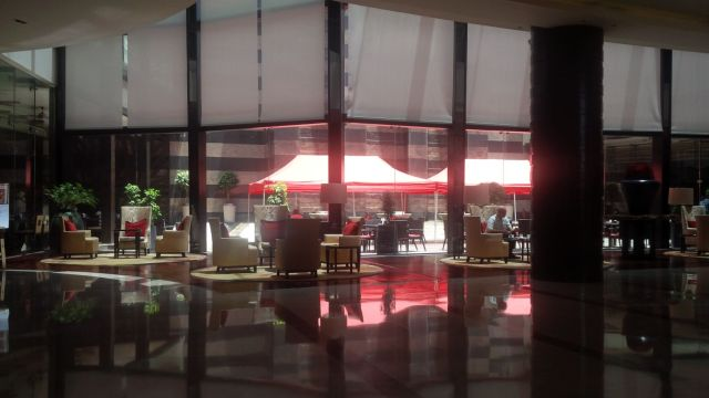 Lobby at the luxurious Marriott Bengaluru Whitefield