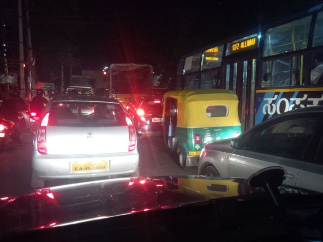 Bangalore has traffic.
