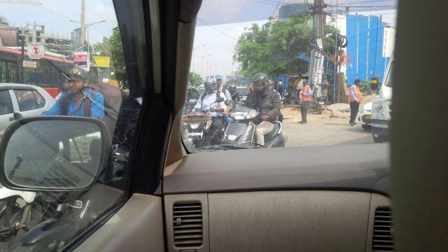 Bangalore has traffic.