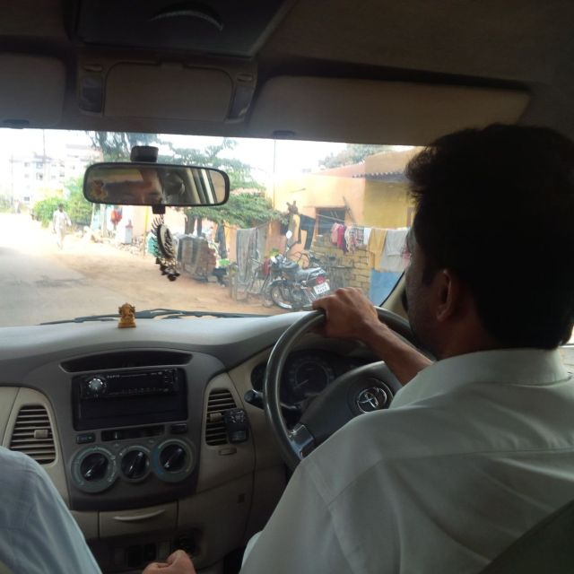 My driver, Kamalesh.  This is how I saw him most of the week.