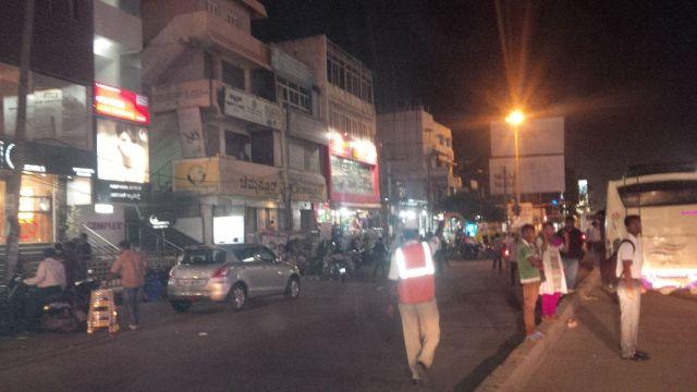 Bangalore at night.
