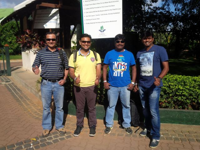 Ciber India's Oracle Practice magnificent managers - Mayur, Ankur, Nagaraj, and Ugandhar.