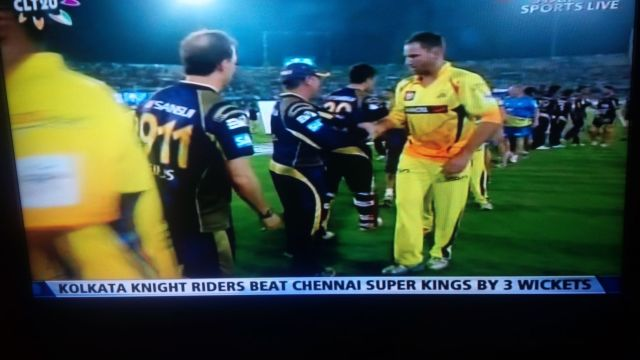 With expected outcome.  Yay Knight Riders!