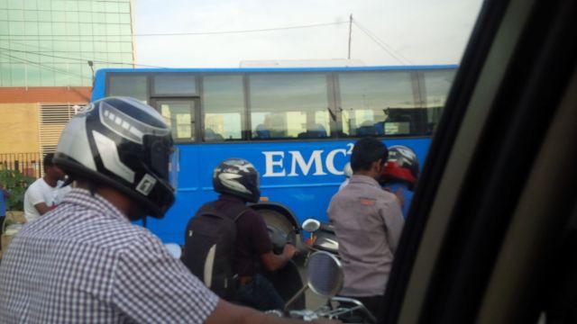 We need a bus with a Ciber logo!