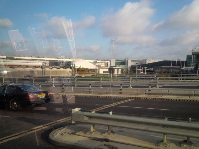 London Heathrow from the shuttle bus