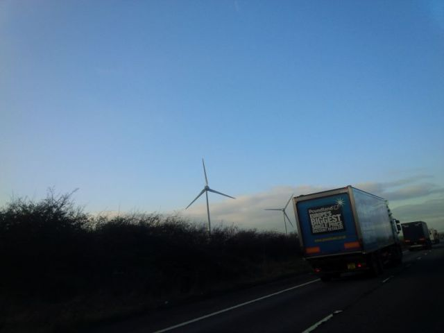 Wind power everywhere. This is cool.