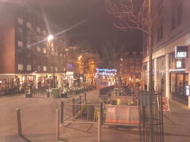 Nottingham is very cool at night.