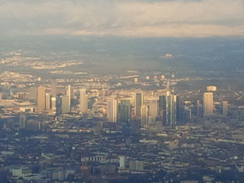 Frankfurt in the daylight.