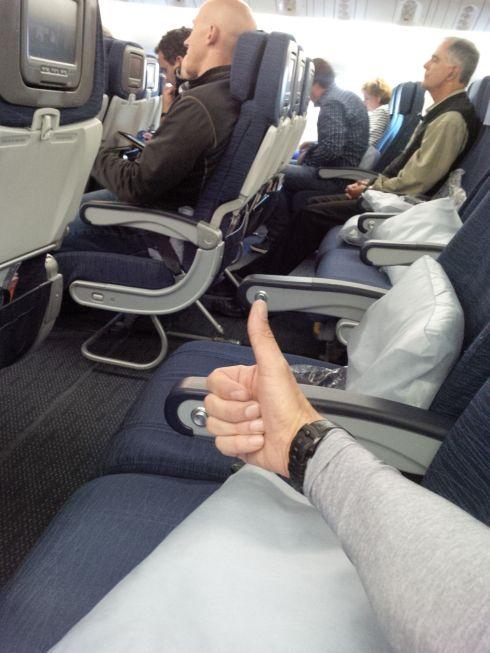 I have no seat mates.  Yay!