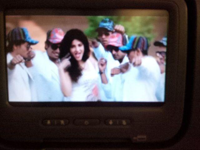 Requisite dance scene in Indian movie.
