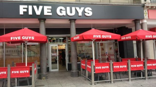 Five Guys, from the USA.