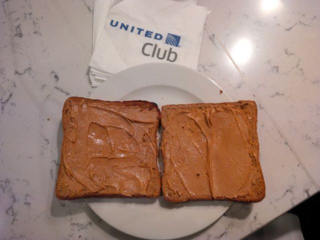 Ah, peanut butter toast.  Gawd Bless America.