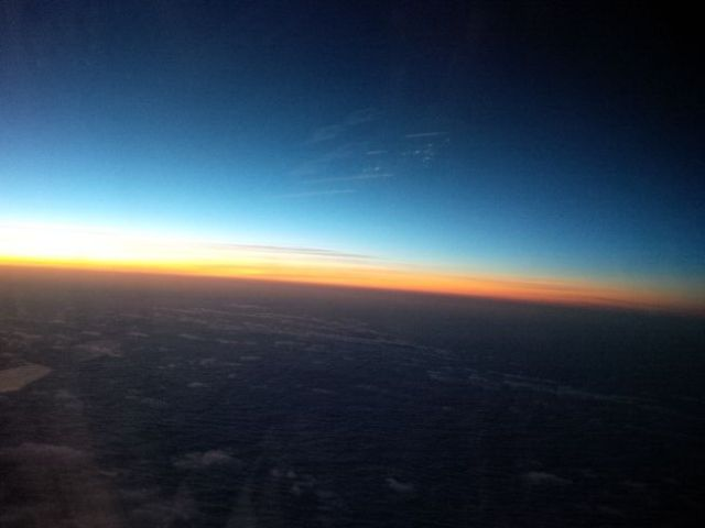 Morning breaks over Europe.