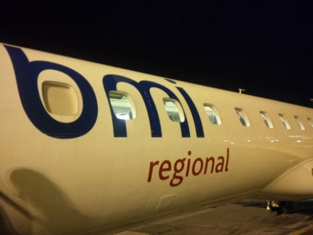 It's an Embraer RJ, pretty much like the United Express flights I get on a lot.