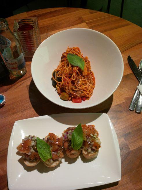I opted for Italian dinner...