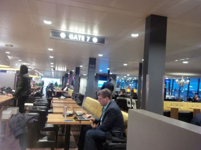 Hanging out in Rotterdam's airport.