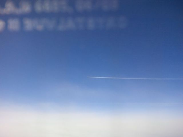 I know there's a lot of sky between that plane and mine, but at 500mph, that gap closes fast.  Eeek.