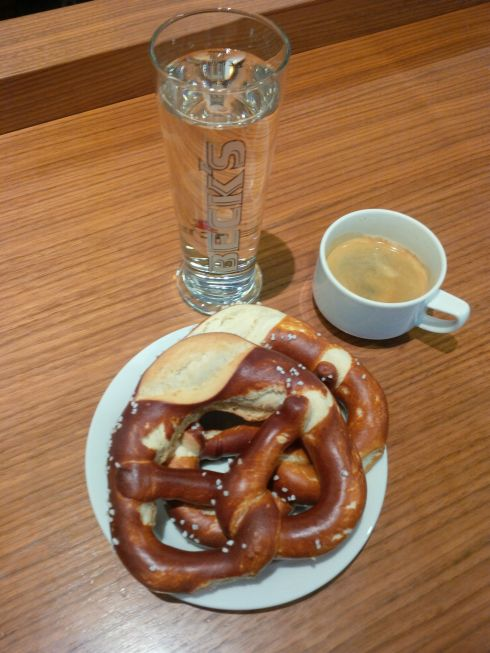 But a pretzel and espresso will soothe.
