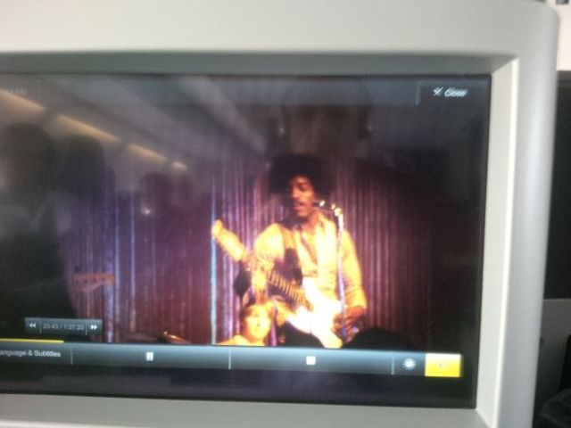 Unofficial movie about Jimi Hendrix.  Skip it if you see it on your menu.