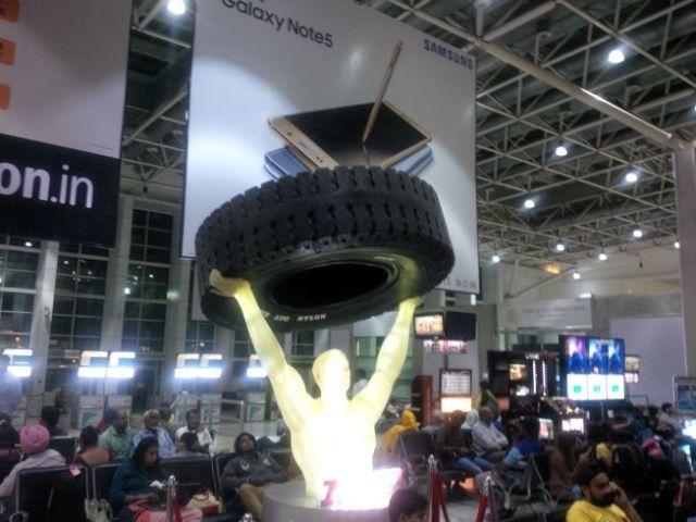 That's a big tire.