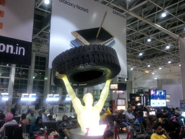 That's a big tire.