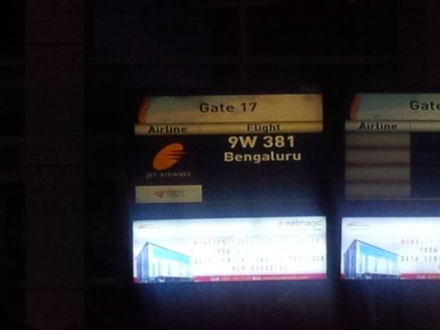 First time on Jet Airways (later learned I earned miles, too :-)