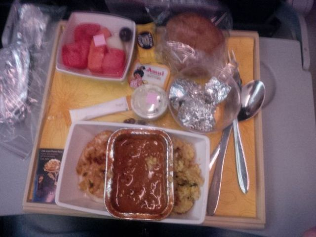 Hello Indian airplane food made by Indians for Indians.