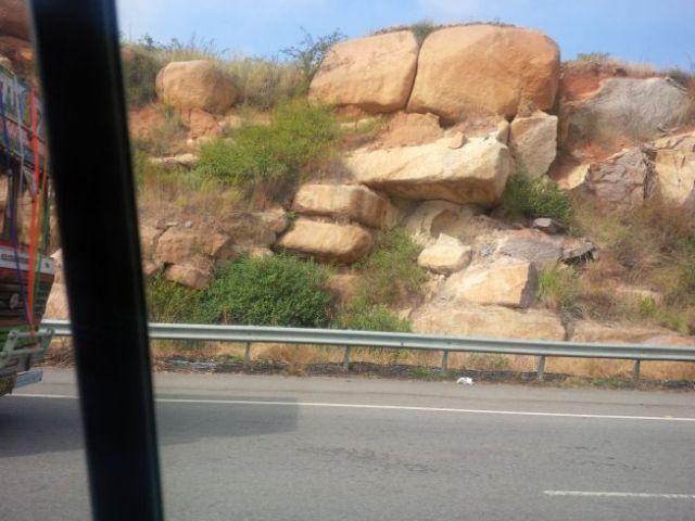 Hyderabad has lots of rocks.