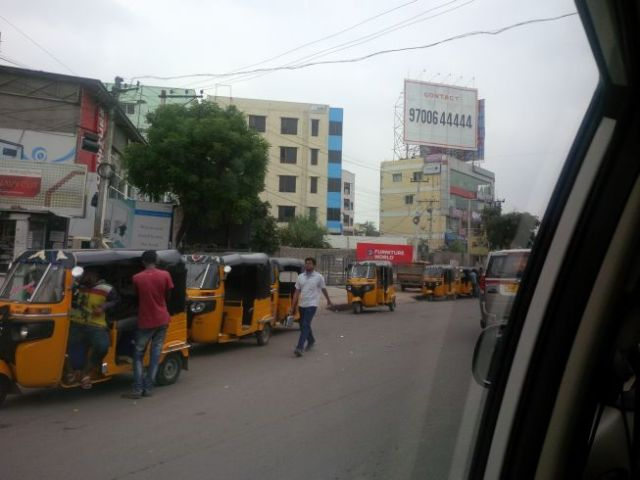 Getting to the tech part of Hyderabad.