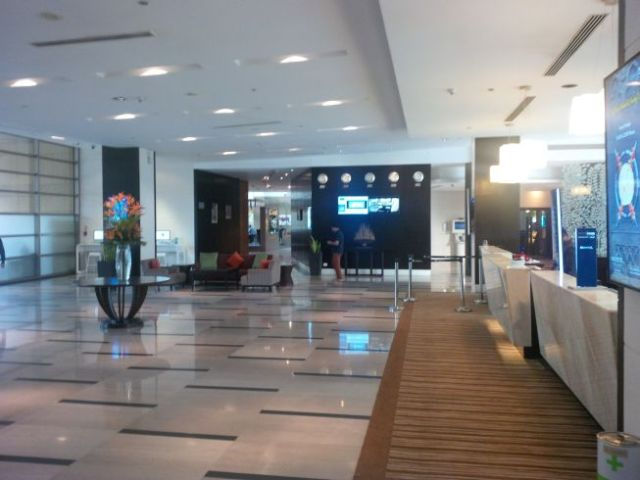 Arrived at the Novotel Hotel and Conference Center.