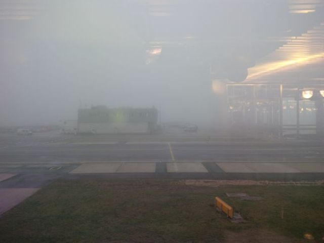 Germany is foggy today.