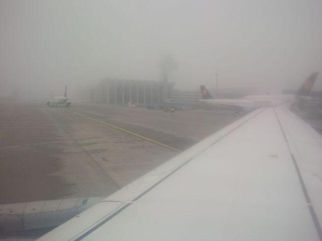 So long, foggy Frankfurt.