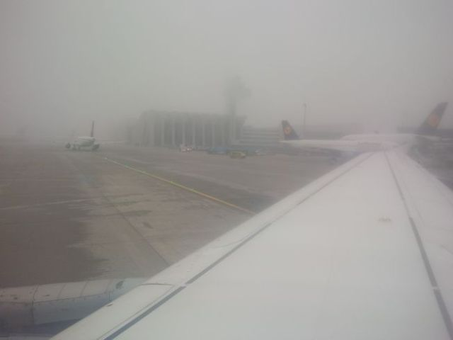 So long, foggy Frankfurt.