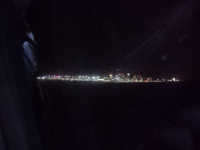 Boston comes into view...