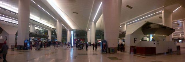 Panorama of Delhi airport.