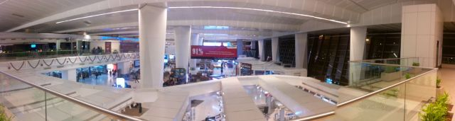Inside the terminal.