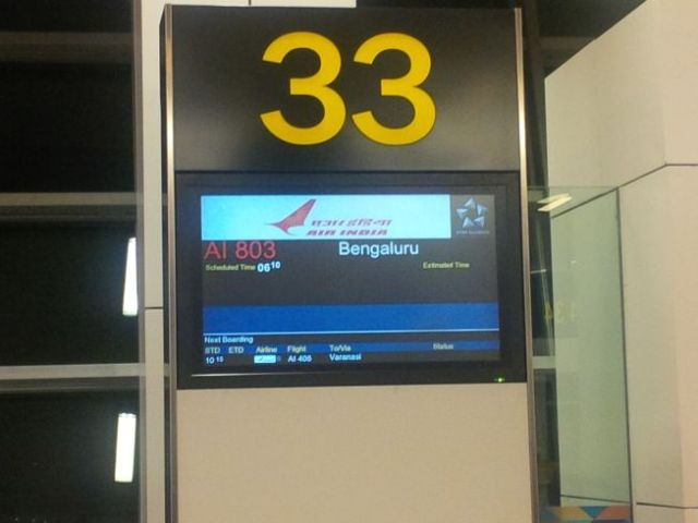 Now boarding to Bengaluru on Air India.