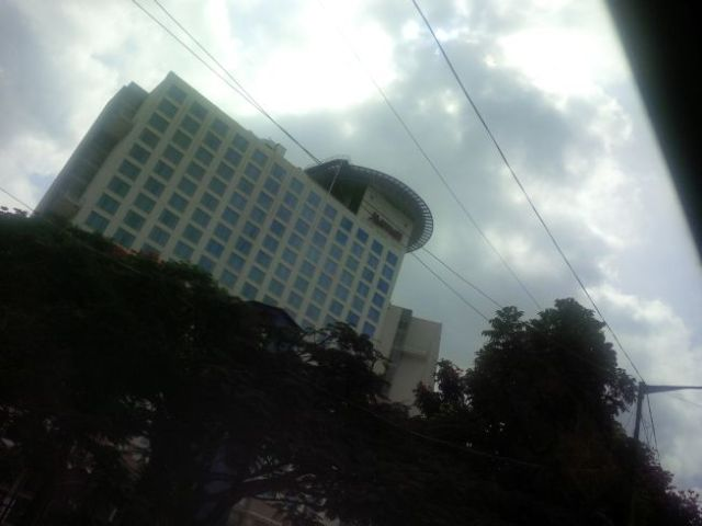 ...that building next to the Marriott! I'm home (India home, that is).