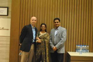 Me, Nivedita, and Mohan.