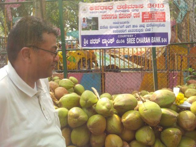 Sandeep suggests having coconut milk.  YES!